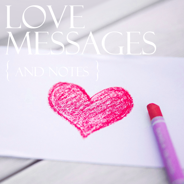 Post love message button