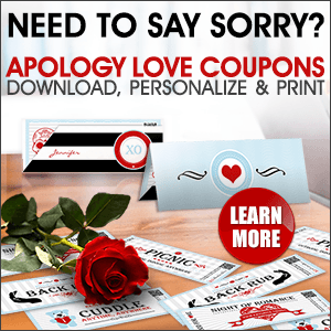 Love coupons to say sorry to your love